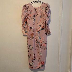 ASOS pink floral dress sz6